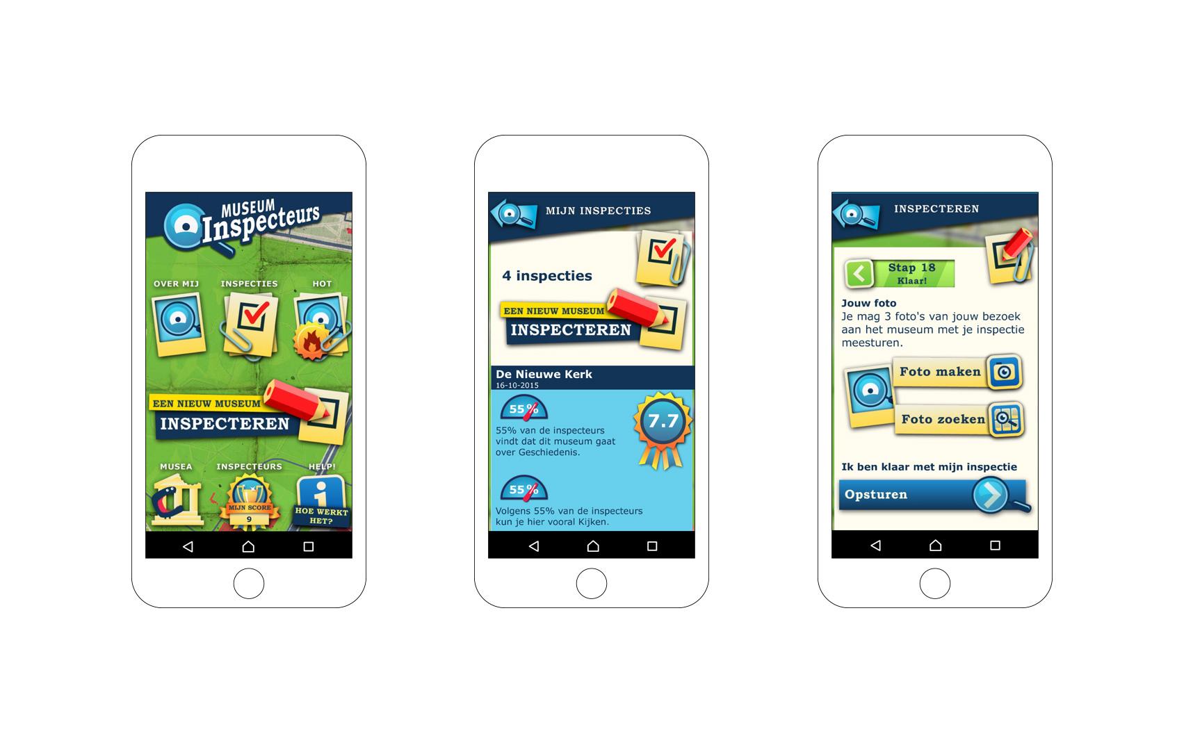 Museuminspecteurs app voor IOS en Android
